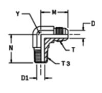 C3MX Ввертной угловой фитинг