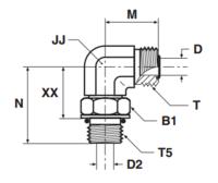 C5OMLO Фитинг ввертной угловой регулируемый