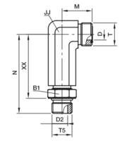 CC5OLO Фитинг ввертной угловой регулируемый удлинённый
