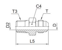 F3MX Ввертной фитинг