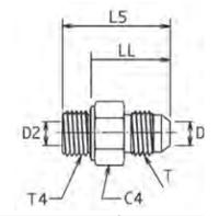 F42EDMX Ввертной фитинг