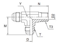 R3MX Ввертной проходной тройник