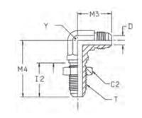 WEMTX Переборочный фитинг угловой