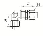 WSV Переборочный угловой фитинг